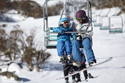 perisher kids on chair